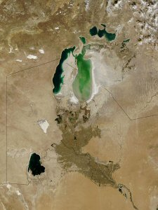 Aral Sea in 2003